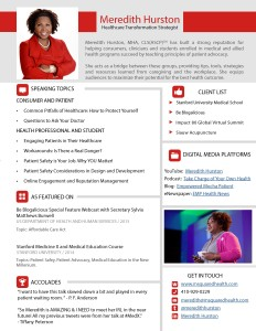 Meredith Hurston Speaker One Sheet